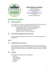Maryland Green Application Form - Maryland Department of the