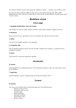 Modellers review