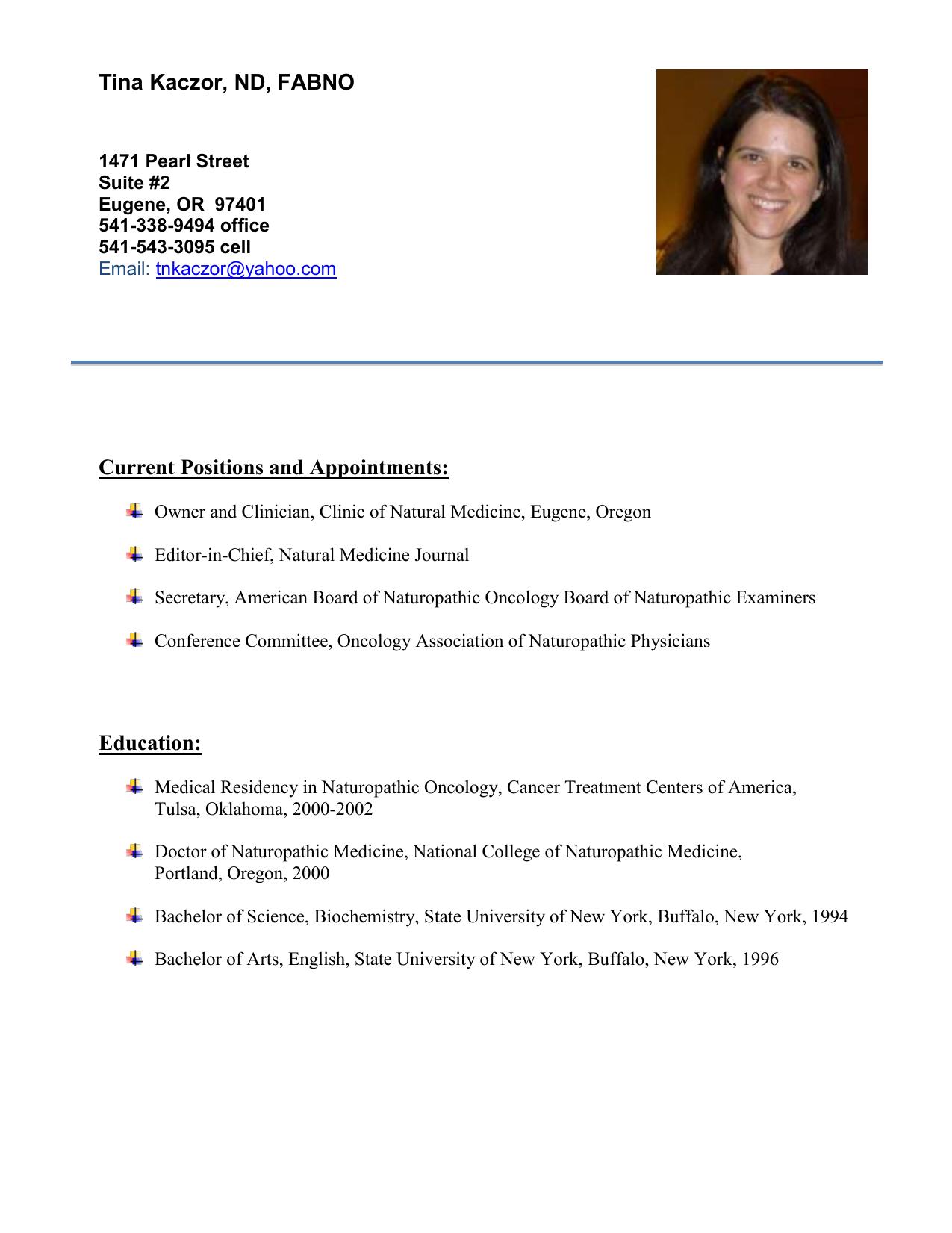 Curriculum Vitae - Functional Medicine University