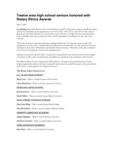 Twelve area high school seniors honored with Rotary Ethics Awards