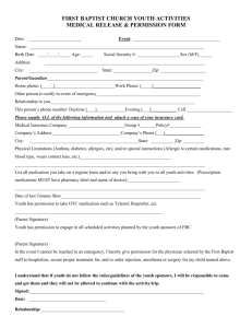 permission form - First Baptist Church!