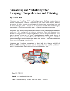 Visualizing and Verbalizing® for Language Comprehension and