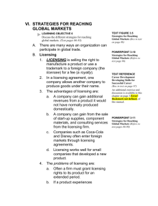 VI. Strategies for Reaching Global Markets Learning objective 6