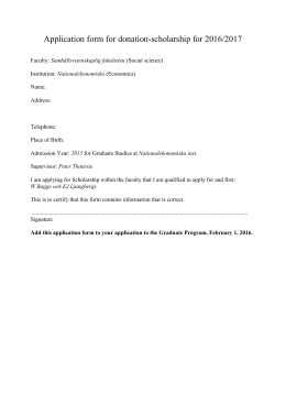 Application form for donation