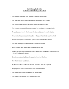 Study Guide Feudal System/Black Death Chapter 12