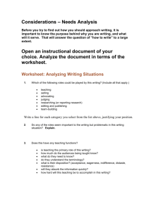 Analyze Writing Situations
