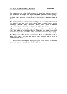 Appendix L UCL Equal Opportunities Policy Statement