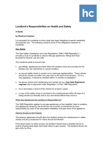 Landlord`s Responsibilites on Health and Safety A Guide by