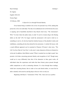 Sample Fiction Paper 2