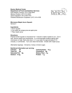 Microwave Maple Squash - Boston Medical Center