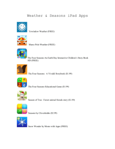 Weather & Seasons iPad Apps