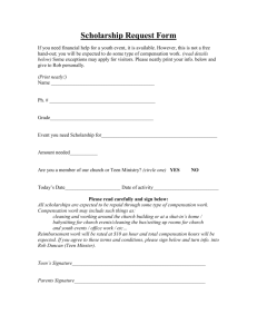 Scholarship Request Form - Lakewood Church of Christ