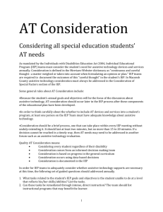 AT Consideration Process and Tool Guide