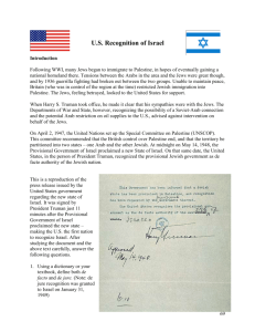 US Recognition of Israel - Harry S. Truman Library and Museum