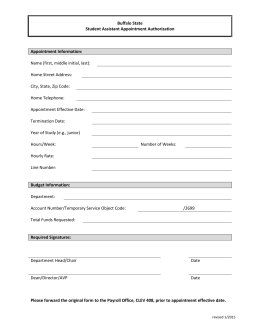 Student Assistant Form (MS Word)