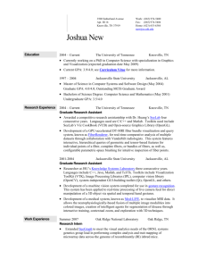 Resume - The University of Tennessee, Knoxville