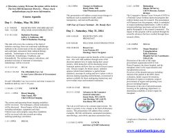 Course Agenda - MAPA (Mid-Atlantic Pathologists` Assistants)