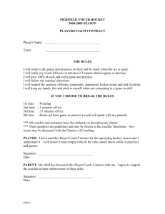 Player/Coach Contract