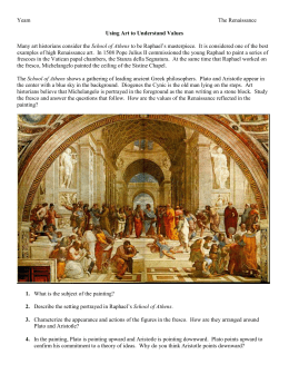 Many art historians consider the School of Athens to be Raphael`s