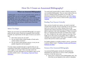 How Do I Create an Annotated Bibliography