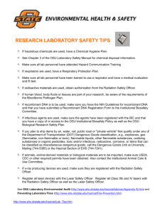 Safety Training Classes - Oklahoma State University