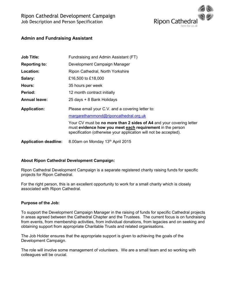 RCDC Assistant Job Description and Person