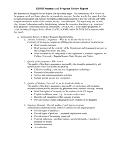 Outline of Common Information for Summarized Assessment Report