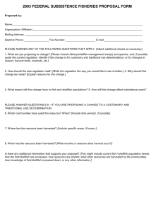 2003 FEDERAL SUBSISTENCE FISHERIES PROPOSAL FORM