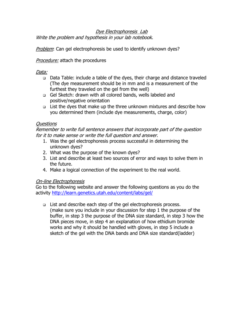 Uncategorized Gel Electrophoresis Worksheet 8 gel electrophoresis
