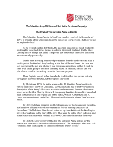 History of the Red Kettle