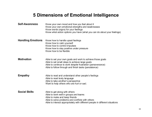 5 Dimensions of Emotional Intelligence