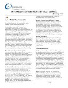 INTERMEDIATE GREEN MONTHLY TEAM UPDATE February 2012
