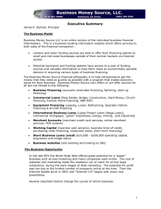Executive Summary for Business Money Source