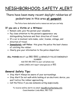 NEIGHBORHOOD SAFETY ALERT-Mui