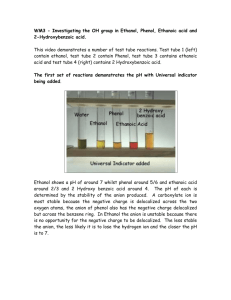 WM3 - Investigating the OH group in Ethanol