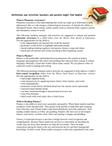 Reading Definitions & Actvities for Teachers & Parents