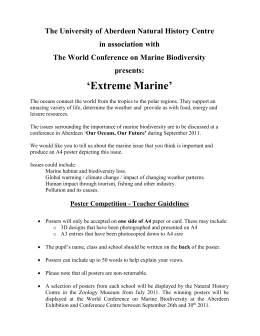 Extreme Marine Sci-Art Poster teacher guide  - TechFest