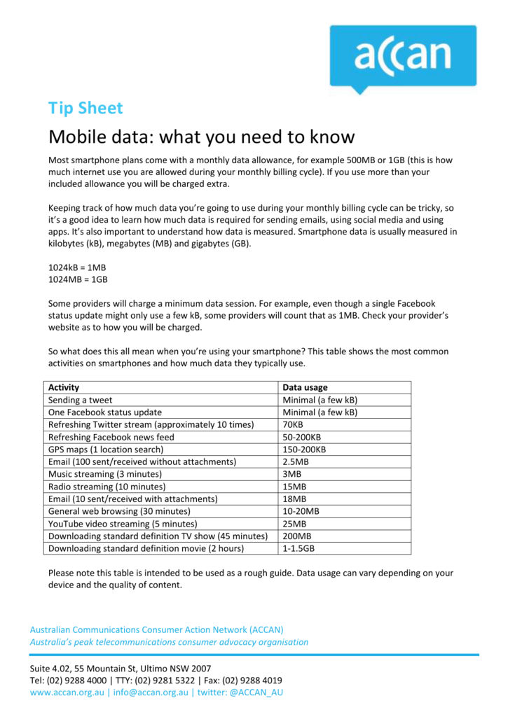 Mobile data what you need to know69 KB