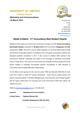 Media Invitation 2nd Accountancy Best Student Awards