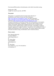 Post-doctoral/PhD position in bioinformatics in the field of microbial