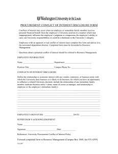 Conflicts of Interest Disclosure Form