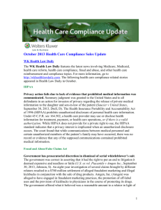 October 2013 - Wolters Kluwer Law & Business News Center