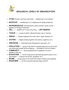 2: Biological Levels of Organization