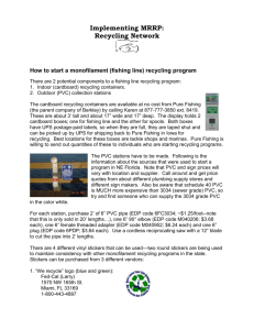 How to start a monofilament (fishing line) recycling program