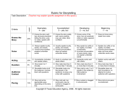 Rubric for Storytelling