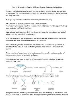 lab report synthesis organic aspirin first year chemistry The objectives of experiment are the following: (1) to explore the chemical process in the synthesis of aspirin such as the household be crystallized should show the ideal staple item vinegar benzyl.