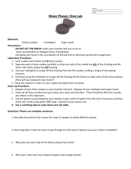 Oreo Mitosis Student Worksheet Materials Needed 6 Oreo Cookies