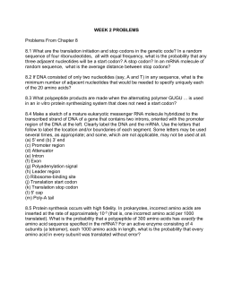 Worksheet - Determination of Protein Amino Acids from M