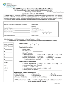 Stroke Prevention Clinic Referral Form