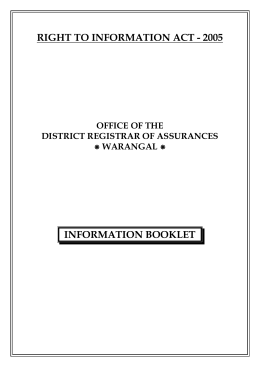 District Registrar of Assurances